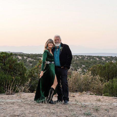Backyard Santa Fe Wedding: Diane + Phelps