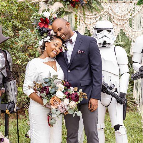 Backyard Star Wars Themed Intimate Wedding : Radiance + Anthony