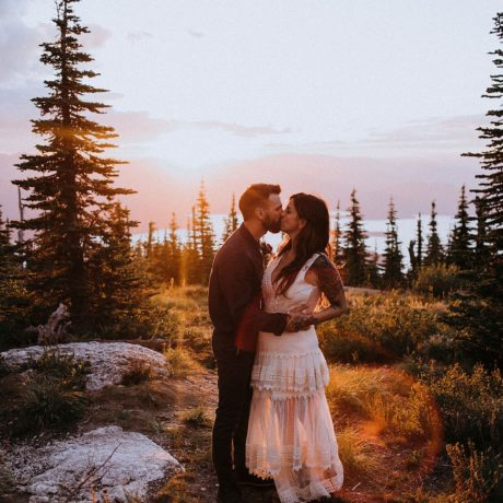 Idaho Microwedding in the mountains : Anna + Jeremy