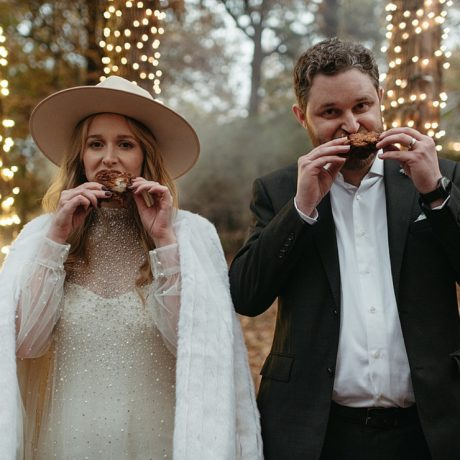 Intimate Backyard Wedding in Fayetteville: Lauren + Patrick