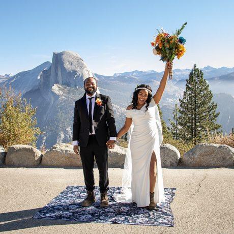 Sunrise Ceremony at Yosemite : Candace and Brendan